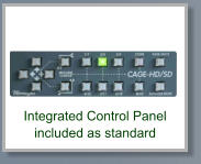 Integrated Control Panel included as standard